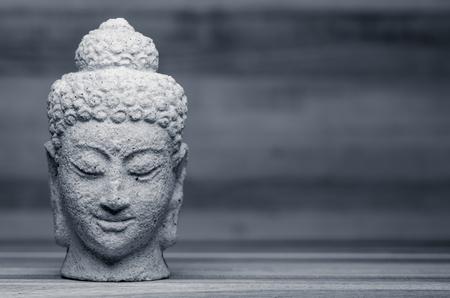 black stone: Buddha portrait
