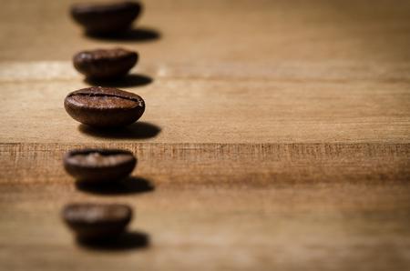 jolt: Line of coffee beans Stock Photo