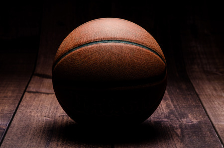 hardwood: Basketball on hardwood