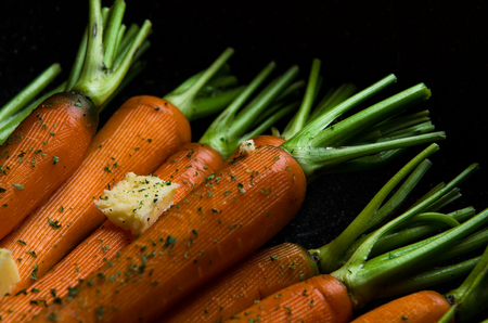 Carrots with butter and herbs