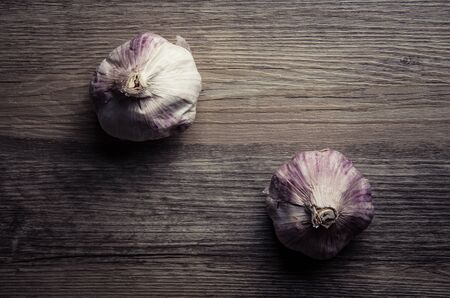 wood surface: Garlic on wood surface