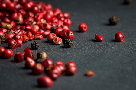 Close up of peppercorns