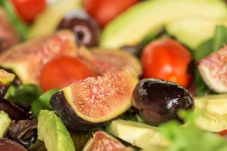 Fresh salad close up Stock Photo