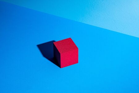 Red cube abstract