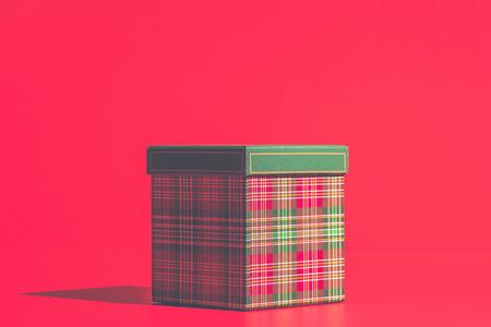 Christmas gift box Standard-Bild