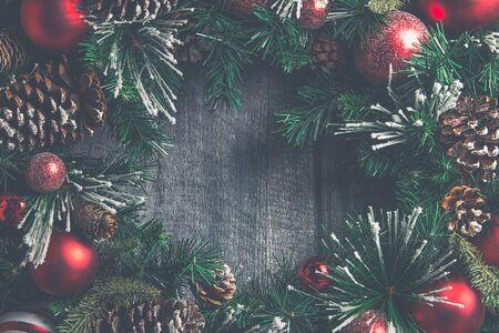 Holiday wreath Standard-Bild