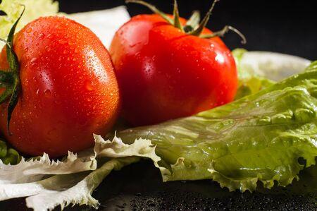 comida rica: Comida saludable buenos bocadillos vegetales frescos Foto de archivo
