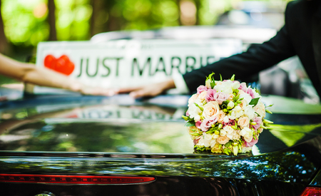 just married: Ramo de boda
