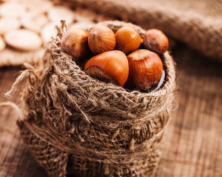 nutty: Organic Whole Hazelnuts in sacking