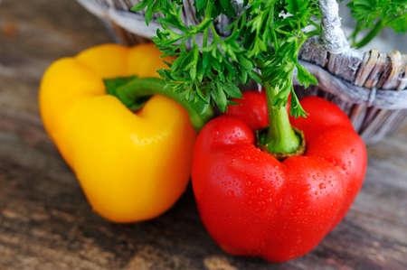 Mixed fresh peppers. Fresh sweet pepper,green onion.Fresh appetizer