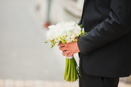 Wedding bouquet of lilies Stock Photo