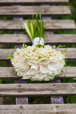 Wedding bouquet of lilies Reklamní fotografie