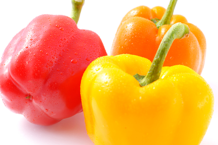 Fresh sweet pepper isolated.peppers isolated on white background