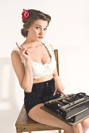 Retro secretary photo