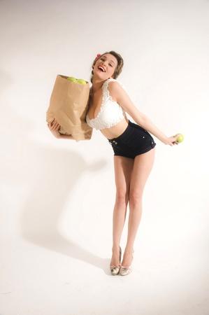 Pin-up girl shopping Stock Photo - 11333907