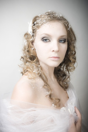 Portrait of the beauty snow queen  photo