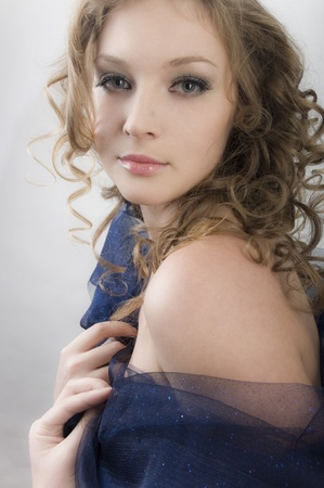 Portrait charming beauty women photo