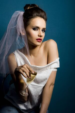 Wedding fashion women portrait Stock Photo - 14287579