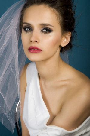 Crying wedding women portrait  photo