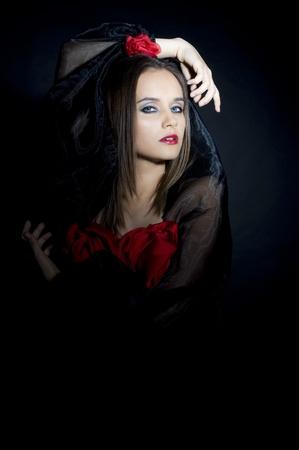 Portrait women is spain costume
