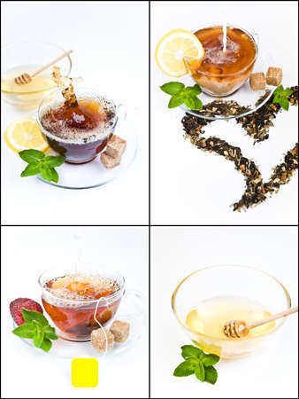 Tea collage  photo