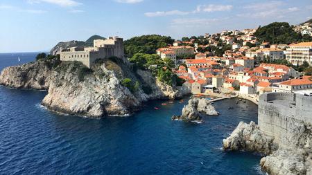 croatian: Scenery of dubrovnik in old city