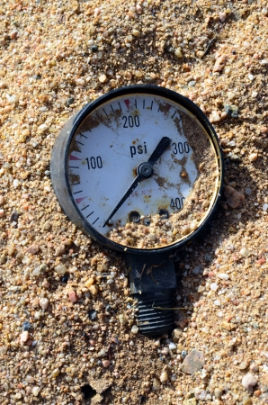 Water Pressure Measure in the Sand  photo