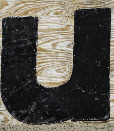 chunky: painted letter u