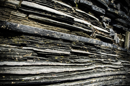 stratigraphy: layered rock texture