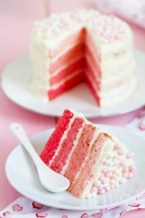 ombre cake: Pink Ombre Cake Stock Photo