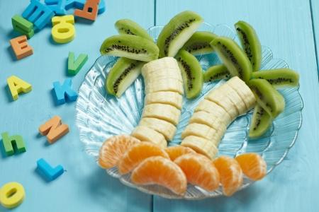 Fruit dessert for child photo