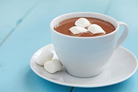 chocolate caliente: Chocolate caliente con malvaviscos
