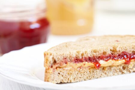 Peanut butter and jelly sandwich photo
