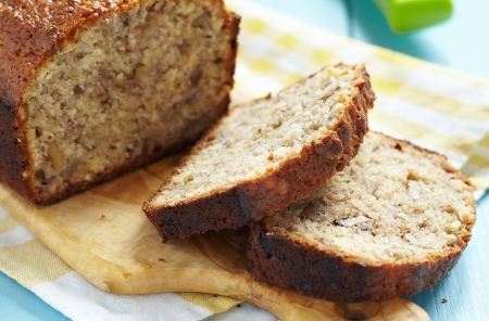 Sliced banana bread with walnuts Stock Photo - 18906638