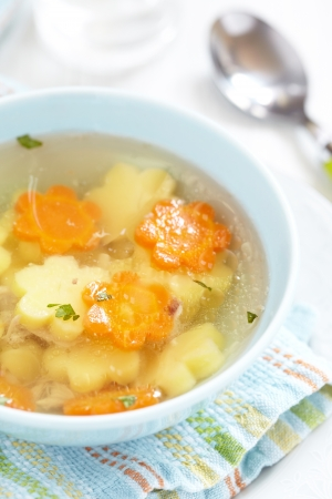 lunch meal: Chicken soup for kids