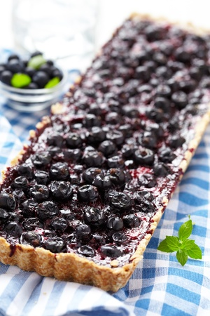 Currant Blueberry Pie with Oatmeal Crust photo