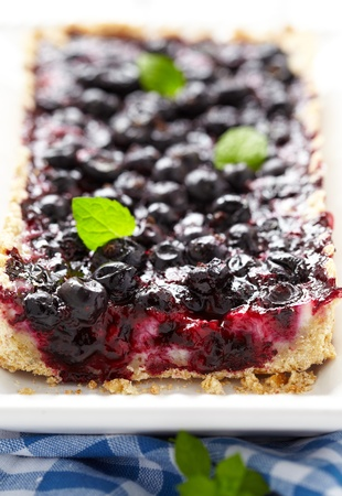 cream pie: Currant Blueberry Pie