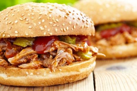 grilled pork: Kéo bánh sandwich thịt lợn