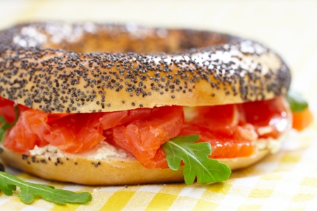 bagel: Bagel and lox Stock Photo