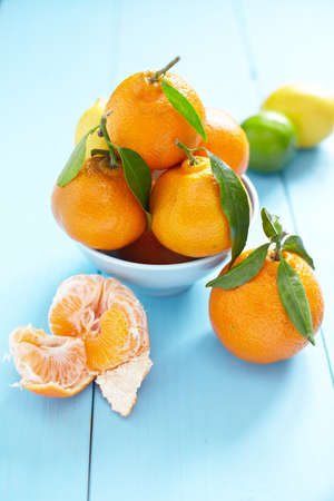 mandarins: Fresh mandarins in a bowl