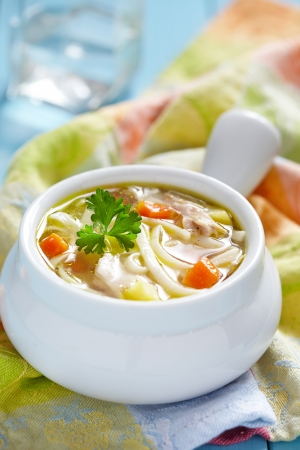 Chicken noodle soup photo