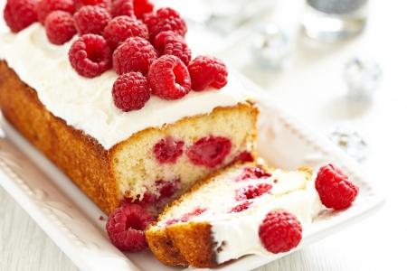 Raspberry Cake for holidays photo