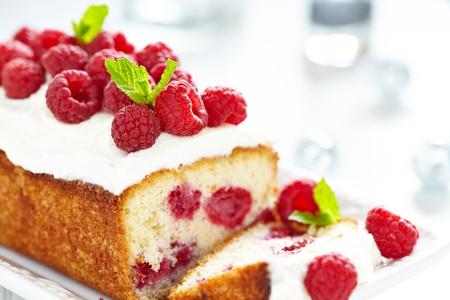 Gâteau de framboise pour les vacances