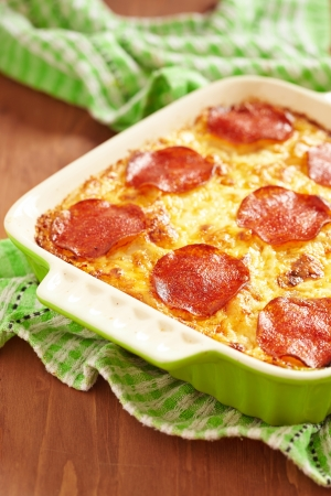 casserole: Casserole with pepperoni