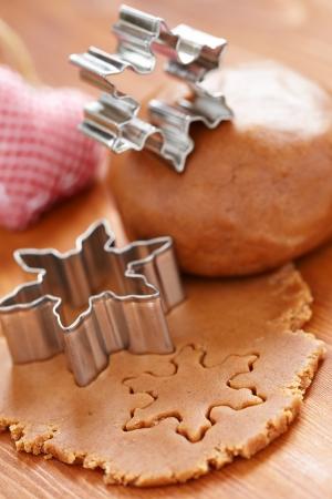 Machen Lebkuchen f?r Weihnachten Standard-Bild