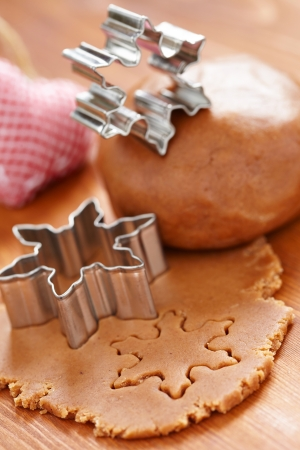 Making gingerbread cookies for Christmas Stock Photo - 22807295