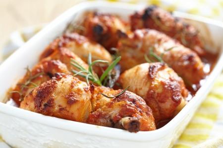 Baked chicken legs photo