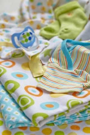 Layette for newborn baby boy photo