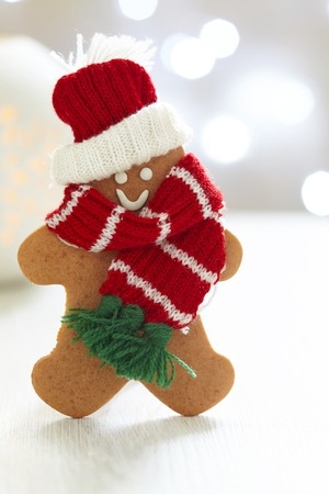 Gingerbread cookie man photo