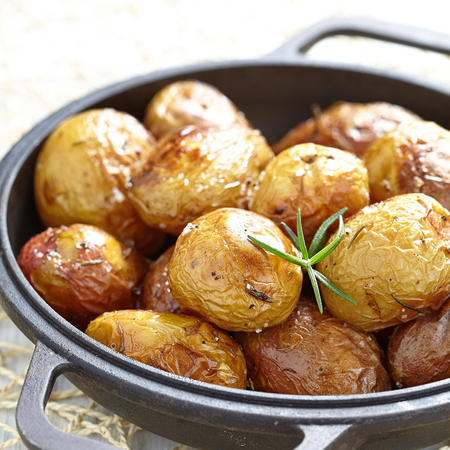baked potato: Baked potatoes with rosemary